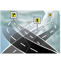 search road vector image