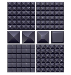 Set of 4 seamless black mosaic backgrounds vector image vector image