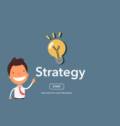 strategy concept on website page vector image