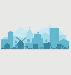suburban and urban panorama vector image vector image