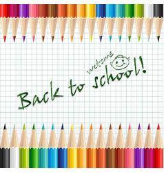welcome back to school background or card with vector image