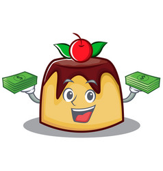 with money pudding character cartoon style vector image vector image
