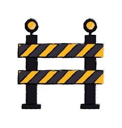 barrier restricted street stripe design drawing vector image