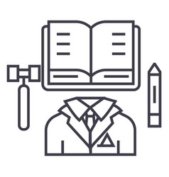 business lawopen book line icon sign vector image