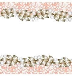 elegant jewelry border vector image