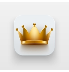 King luxury icon Symbol of Crown on light vector image