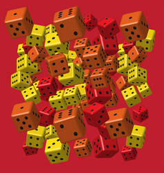 red orange yellow dice pattern vector image
