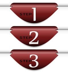 Set of arrows stickers vector image