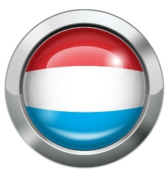 Dutch flag metal button vector image vector image