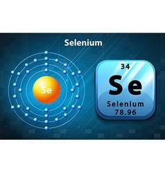 Flashcard of selenium atom vector image