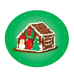 gingerbreag house vector image vector image