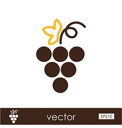 Grapes outline icon fruit vector