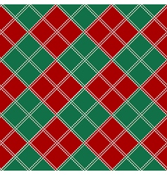 Red Green White Chess Board Background vector image vector image