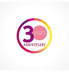 30 anniversary circle logo gi vector