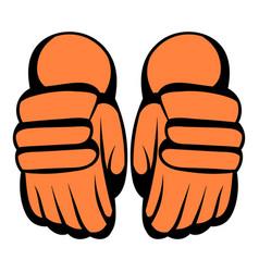A pair hockey gloves icon icon cartoon vector