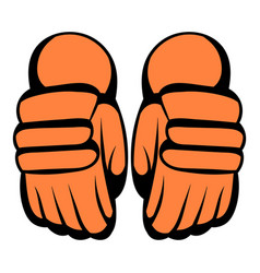 A pair of hockey gloves icon icon cartoon vector