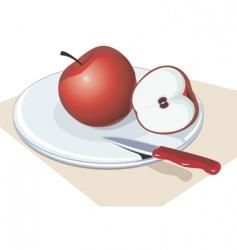 Apple slice vector