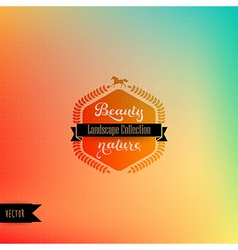 Backdrop with hipster badge Retro label design vector
