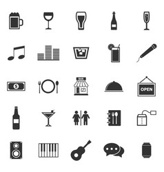 bar icons on white background vector image