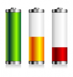 Battery levels set vector