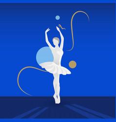 Beautiful female ballet dancer vector