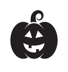 Black icon of Halloween pumpkin vector