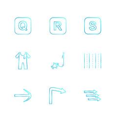 Boat arrows alphabets sea food picnic vector