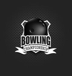bowling logo template design vector image