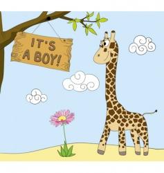 boy arrival vector image