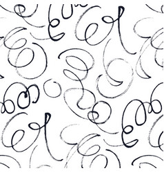 Calligraphic swirls pattern vector