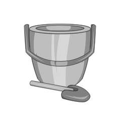 Childrens bucket with shovel icon vector image