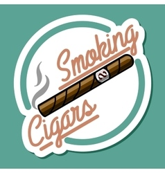 Color vintage smoking emblem vector image
