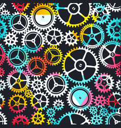 Colored clockwork seamless texture vector