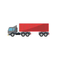 commercial container truck isolated icon vector image