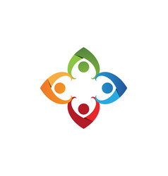 community people care logo and symbols template vector image