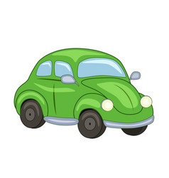 cute cartoon green car vector image
