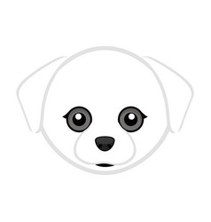 Cute maltese dog avatar vector