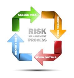 Diagram of risk management vector