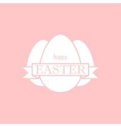 Easter with eggs and ribbon happy easter vector