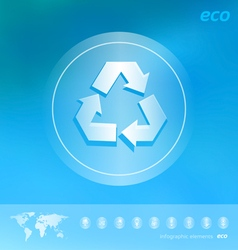 Ecology icon on the blurred background vector image