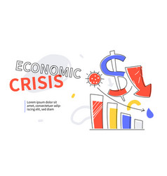 Economic crisis - colorful flat design style web vector