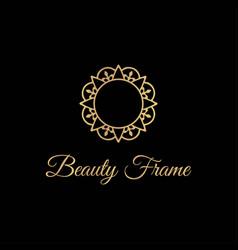 elegant and luxurious stylish gold frame logo vector image