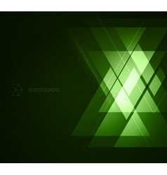 Elegant Geometric Green Background vector image