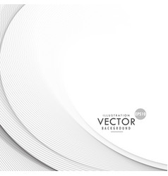 elegant gray wave background design vector image