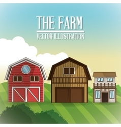 Farm barn icon vector