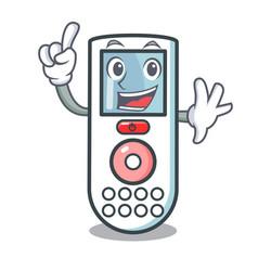 finger remote control mascot cartoon vector image