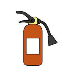 fire extinguisher industrial security vector image