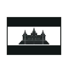 Flag of Cambodia on white background vector image