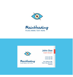 flat eye logo and visiting card template busienss vector image
