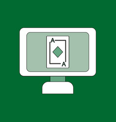 Flat icon design collection ace of diamonds screen vector